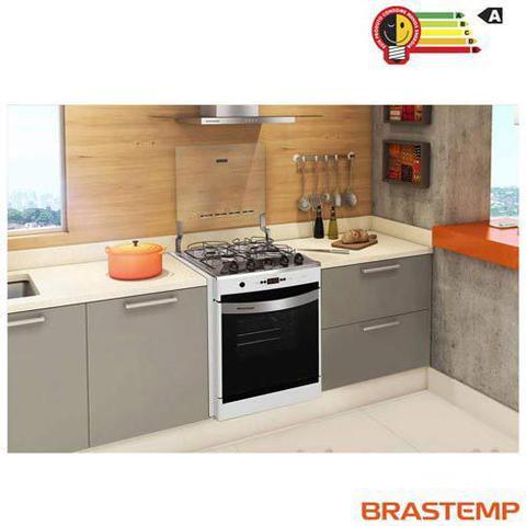 Imagem de Fogao de Embutir 4 Bocas Brastemp Clean com Acendimento Automatico, Timer Digital Branco - BYO4TABUNA
