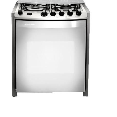 Imagem de Fogão de Embutir Brastemp Ative Grill 4 Queimadores Inox 110V BYS4GARNNA