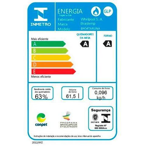 Imagem de Fogao de Embutir com 04 Bocas Brastemp Clean com Acendimento Automatico, Timer Digital Inox - BYO4TARUNA