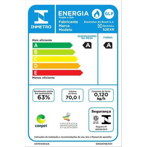 Imagem de Fogão de Embutir cor Prata 4 Bocas com Timer Digital Electrolux (52EXR)