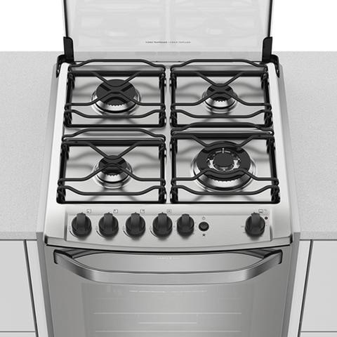 Imagem de Fogão de Embutir Electrolux 56EAX a Gás 4 Queimadores Prata Bivolt 23048EBA088P1