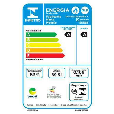 Imagem de Fogão de Embutir Electrolux de 04 Bocas Branco - 56EBT
