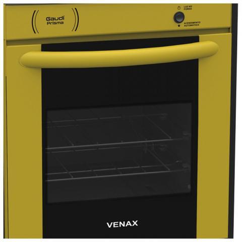 Imagem de Fogão de Embutir Gaudi Prisma Vitreo Venax 4 Queimadores Gás GLP Amarelo  Bivolt
