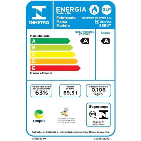 Imagem de Fogão de Embutir Inox 4 Bocas com Grill Elétrico e Timer Electrolux (56EXT)