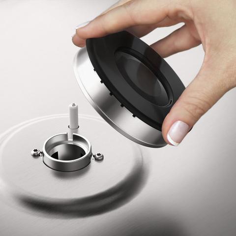 Imagem de Fogão de Piso 4 Bocas cor Prata com Grill Elétrico e Timer Electrolux (56GXQ)