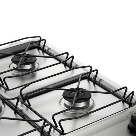Imagem de Fogão de Piso 5 bocas cor Prata com Porta Full Glass e Timer Digital Electrolux (76RSS)