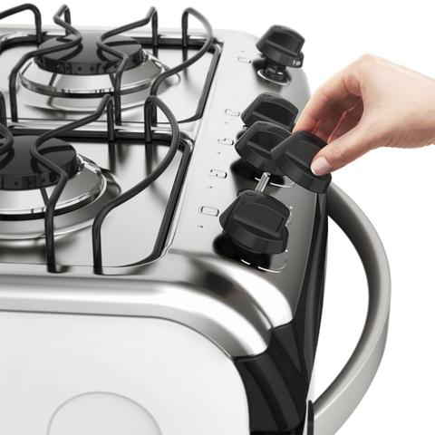Imagem de Fogão de Piso Branco com 4 Queimadores e Vidro Interno Removível (52SMC)