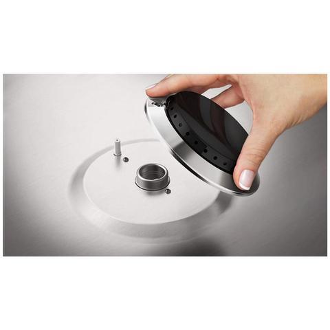Imagem de Fogão de Piso Electrolux 5 Bocas 76USQ Full Glass Silver Bivolt