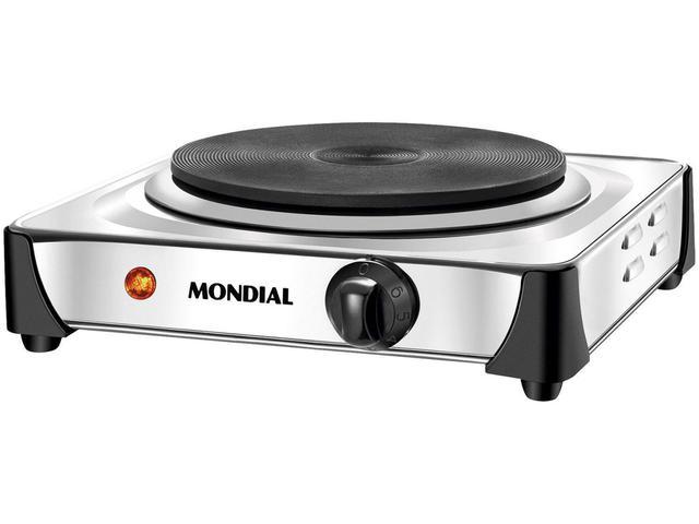 Imagem de Fogão Elétrico 1 Boca de Mesa Inox 1000W - Mondial Fast Cook FE-04
