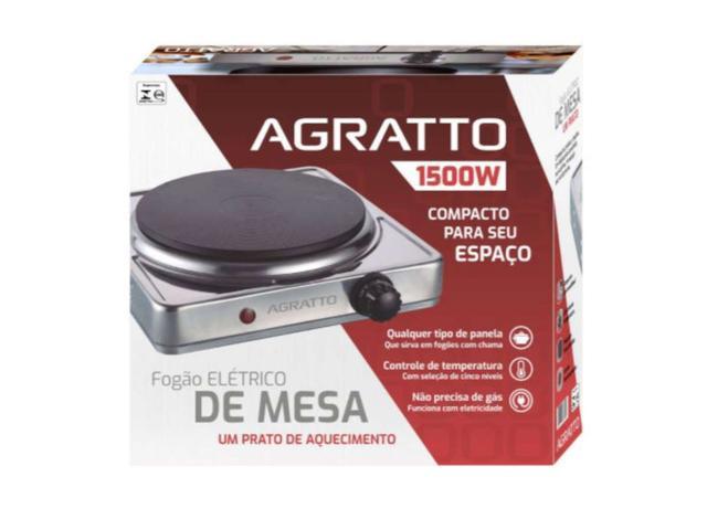 Imagem de Fogão Elétrico Agratto Inóx 1 Boca 1.500W 220V