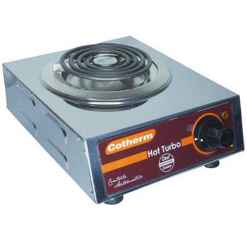Imagem de Fogão Elétrico Portátil de Mesa 1 Boca 1250W Hot Turbo Inox 220V Resistência Blindada Cotherm 2446