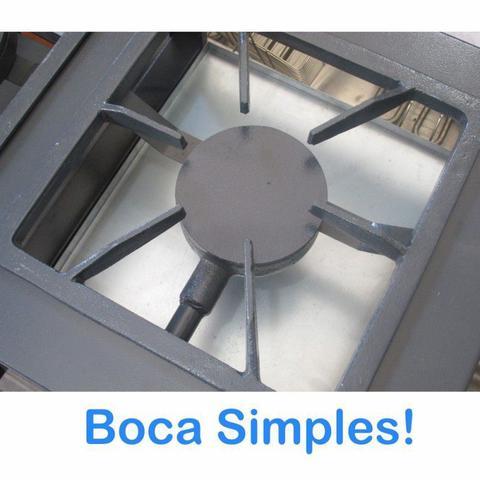 Imagem de Fogão industrial 4 bocas com forno  baixa pressão