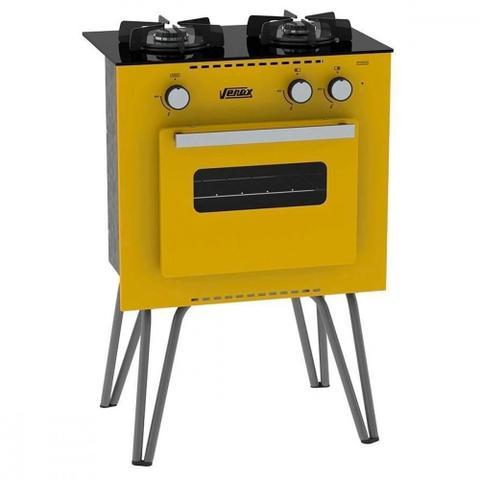 Imagem de Fogão Portátil 2 Queimadores Venax Mini Cook Amarelo