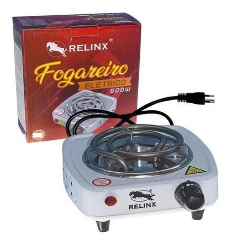 Imagem de Fogao portatil fogareiro eletrico 500w com 1 boca para mesa bancada camping 220v