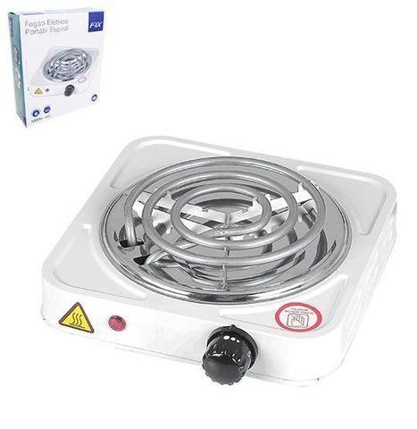 Imagem de Fogareiro / fogao eletrico portatil espiral 1 boca 127v preto/branco na caixa