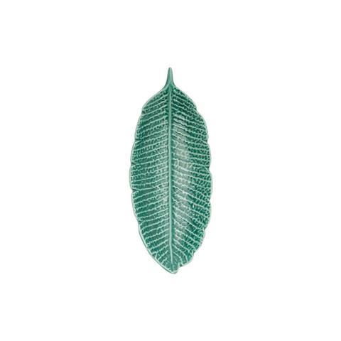 Imagem de Folha decorativa 16 x 6,5 cm de porcelana verde Pachira Prestige - 26873