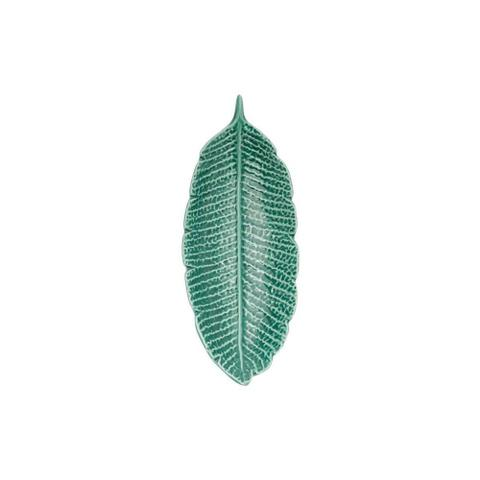 Imagem de Folha Decorativa de Porcelana Heliconia 17x7x2,5cm Verde Prestige