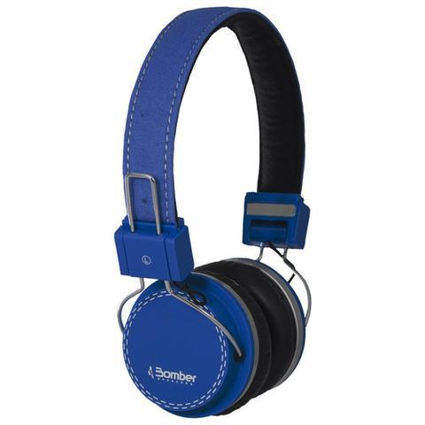 Fone de Ouvido Headphone Quake Azul Bomber Hb02