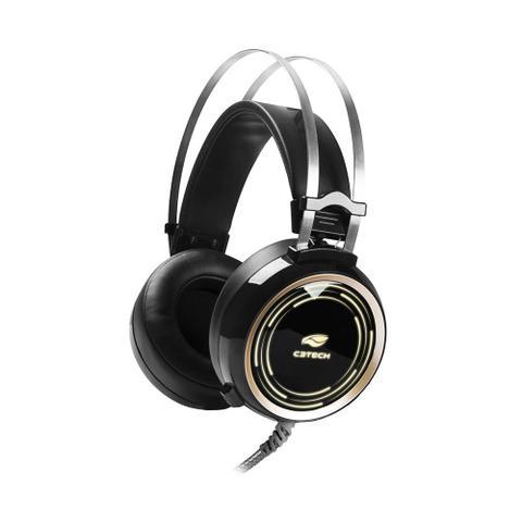 Fone de Ouvido Headset Gamer Black Lite Preto C3 Tech Phg310bk