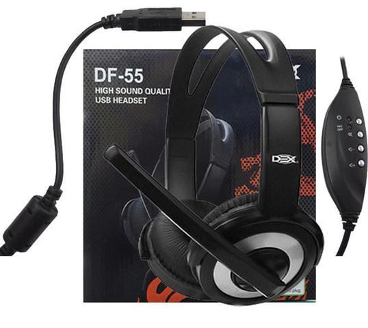Fone de Ouvido Headset Preto Dex Df55