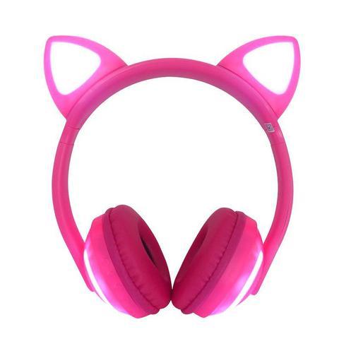 Imagem de Fone de Gatinho com 7 Cores de LED Sem fio com Microfone Headset Orelha de Gato