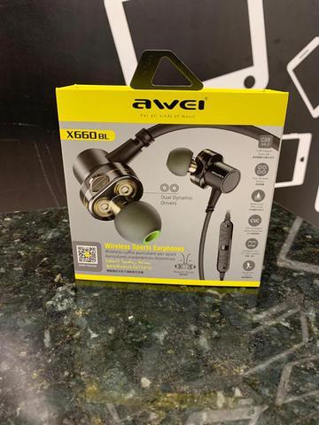 Fone de Ouvido Intra-auricular Bluetooth Awei X660bl