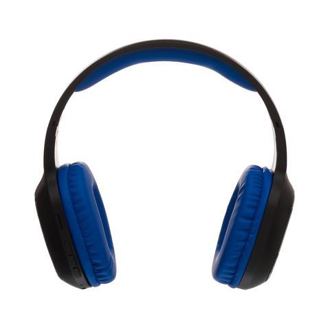 Imagem de Fone de ouvido azul e preto headphone bluetooth a. fidelidade sonora maketech hp17