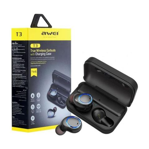 Imagem de Fone De Ouvido Bluetooth 5.0 Awei Tws T3 Sport Intra Auricular