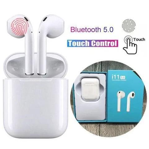 Imagem de fone de ouvido bluetooth 5.0 sem fio recarregável microfone