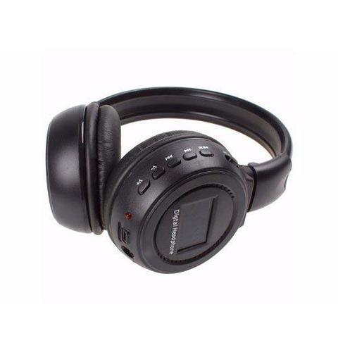 Imagem de Fone de Ouvido Bluetooth com Visor SD CARD P2 FM N65 Preto