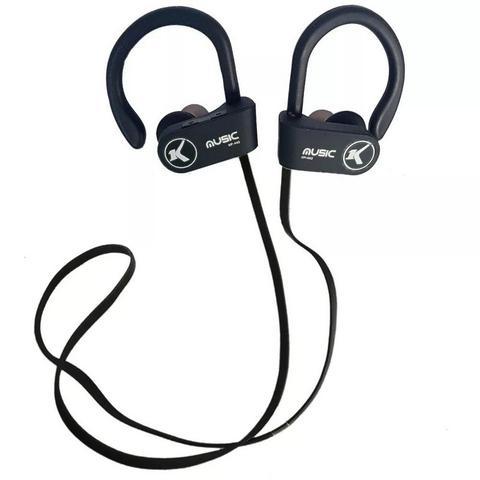 Imagem de Fone De Ouvido Bluetooth Esportivo S/Fio Knup Preto