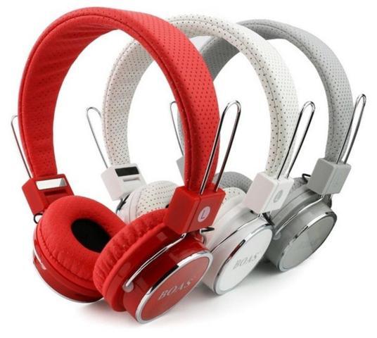 Imagem de Fone De Ouvido Bluetooth Micro Sd Mp3 Rádio Fm Player B-05 - Vermelho