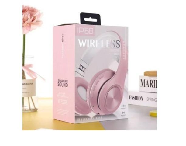 Imagem de Fone De Ouvido Bluetooth Wireless Modelo P68 Headset  rosa