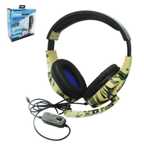 Imagem de Fone de ouvido camuflado com microfone headset vision 1,2m
