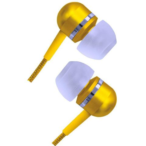 Fone de Ouvido Intra-auricular Estéreo Amarelo Coby Cvem79