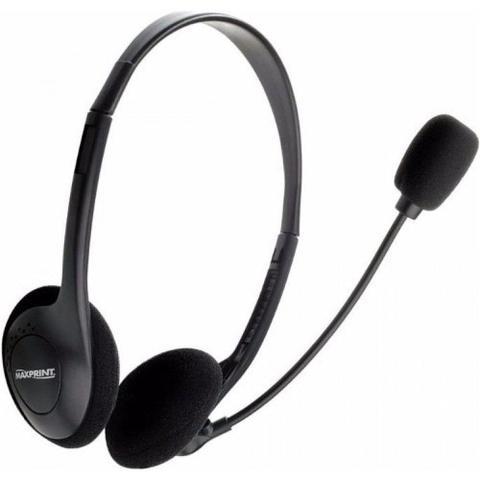 Fone de Ouvido Headset Com Microfone Preto Maxprint 602314