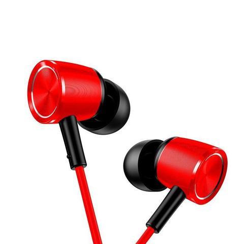 Imagem de Fone De Ouvido Com Microfone Cor Vermelho Entrada P2 Baseus Encok H07