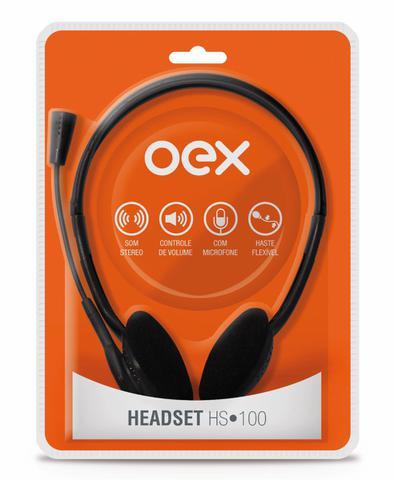 Imagem de Fone De Ouvido Com Microfone Headset Hs100 Oex