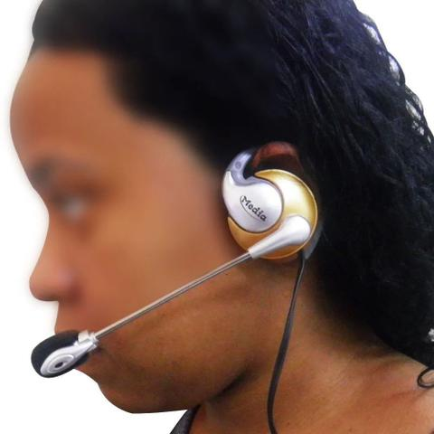Imagem de Fone de ouvido com microfone P2 Home Office Computador Notebook Jogos Wathsapp Headset