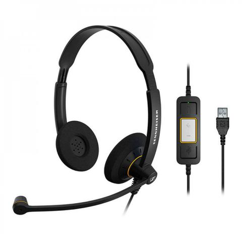 Fone de Ouvido Headset Microfone Inteligente Sennheiser Sc260