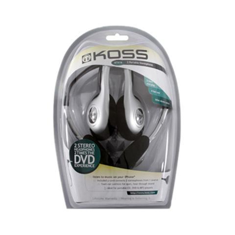 Fone de Ouvido Headphone Prata e Preto Koss Ktx16