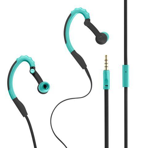 Fone de Ouvido Earphone Hook Sport Azul Pulse Sound Ph204