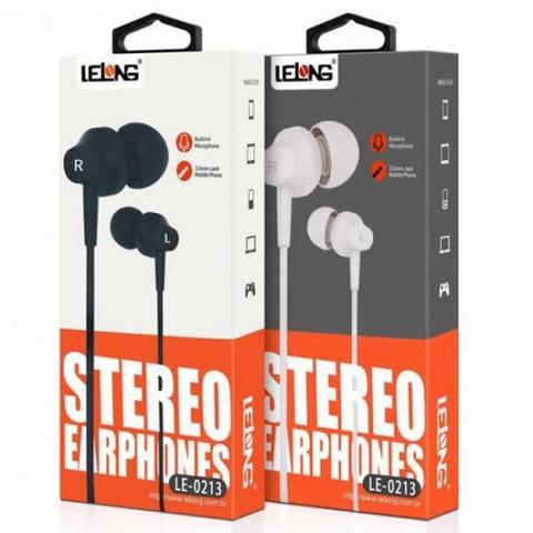 Fone de Ouvido Branco Lelong Le-0213