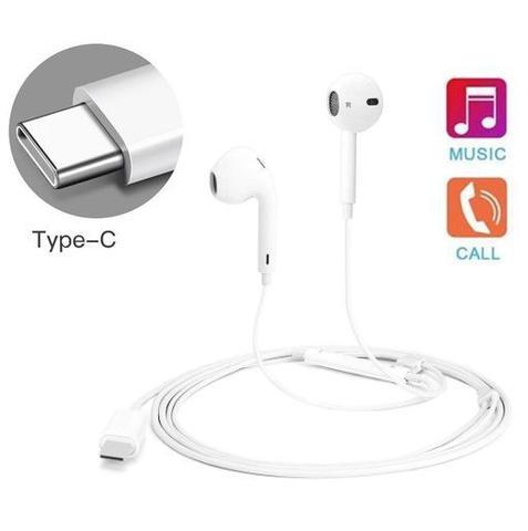 Imagem de Fone de Ouvido Esterio TYPE C Tipo C USB com Microfone
