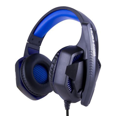 Imagem de Fone de Ouvido Gamer C/ Led Azul USB P2 Microfone Celular