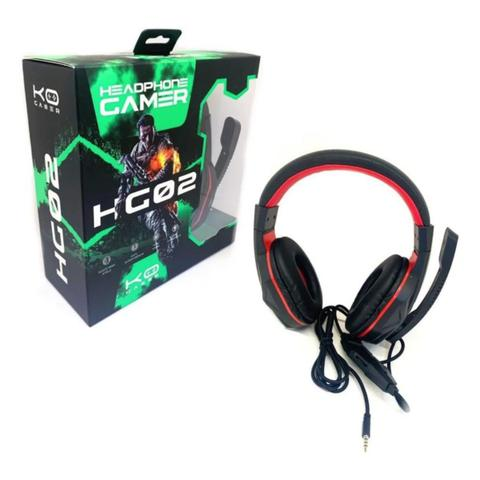 Imagem de Fone De Ouvido Gamer Hg02 Fio Microfone HeadPhone Computador