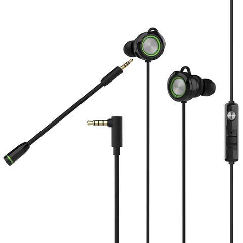 Imagem de Fone de Ouvido Gamer In-Ear Edifier GM3SE com Microfone Destacável Preto/Verde
