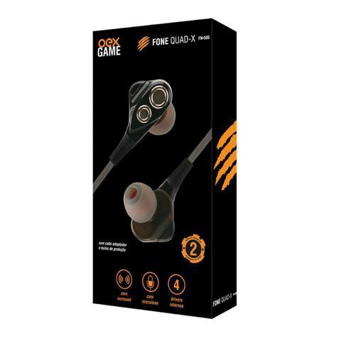 Imagem de Fone de ouvido gamer intra auricular - quad-x fn500 oexgame