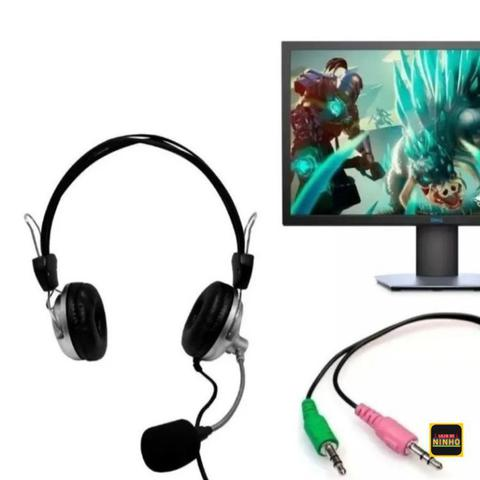 Imagem de Fone de Ouvido Gamer Jogar PC Microfone Headset Barato