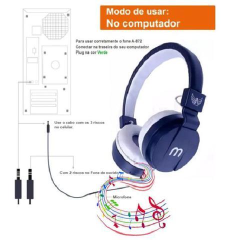 Imagem de Fone De Ouvido Headphone A-872 Stereo Microfone P2 PRETO